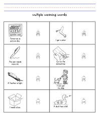 Meaning Words Worksheets Meaning Words Used In Sentences Cut And Paste