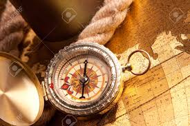 Map Compass Old Map Compass And Navigation Equipment Stock Photo Picture And