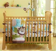 Infant Crib Bedding 4pcs Animal Baby Boy Bedding Set Crib Nursery Quilt Bumper