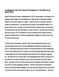 the bell jar themes analysis investigation into the theme of entrapment in the bell jar by sylvia