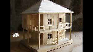 make house how to make a wooden model house youtube