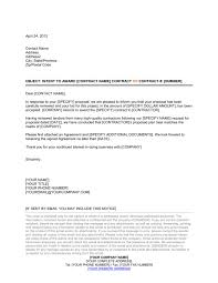 awarding contract letter template u0026 sample form biztree com