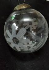 etched kugel glass ornament ebay