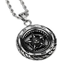 aliexpress buy nyuk mens 39 hip hop jewelry iced out nyuk stainless steel car wheel pendant necklace silver high
