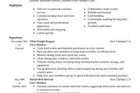 Job Description Cashier Resume by Mcdonald U0027s Crew Member Resume Reentrycorps