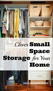 Clothes Storage Solutions by Clever Small Space Storage In Your Home Earning And Saving With