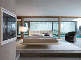 Modern Style Bed Modern Style Bedroom Set Floating Bed With White Led Lights And