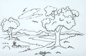 drawing pictures of nature step by step pictures of nnature