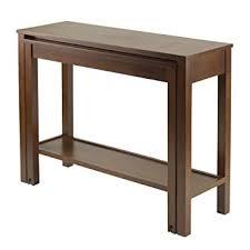 expandable tables amazon com winsome brandon expandable console table kitchen dining