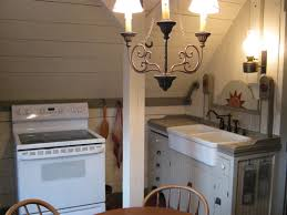 small studio apartments appliances loft kitchen antique pendant light grey rectangle