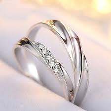 korean wedding rings korean version of the simple and s925 silver ring
