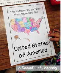 United States Learning Map by A Spoonful Of Learning American Symbols