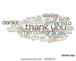 vector concept conceptual abstract thank you stock vector