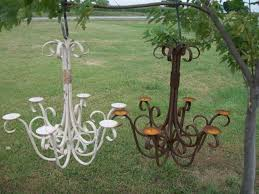 Garden Candle Chandelier 30 Wrought Iron Real Candle Chandelier Garden