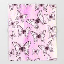 purple butterfly throw blankets society6