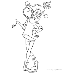 pippi longstocking color cartoon characters coloring pages