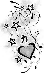 heart n stars tattoo designs tattoos pinterest star tattoo