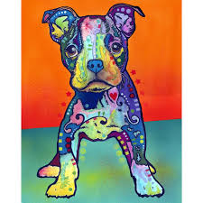 on my own pit bull puppy wall sticker decal animal pop art by on my own pit bull puppy wall sticker decal animal pop art by dean russo