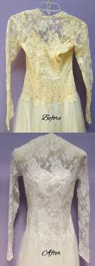 wedding dress restoration tips for safely restoring an aged or stained wedding dress or gown