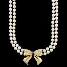 diamond pearl necklace images Estate pearl jewelry long 39 s jewelers jpg