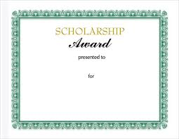templates for scholarship awards sle scholarship certificate template 9 documents in psd pdf ppt