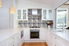 Cobalt Blue Backsplash Kitchen Contemporary With Subway Tile White - Blue tile backsplash kitchen