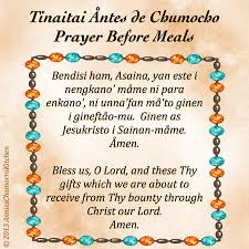 prayer before meals tinaitai åntes de chumocho s