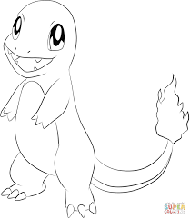 charmander coloring free printable coloring pages