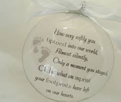 memorial ornament baby celebration miscarriage by brushedbyanangel