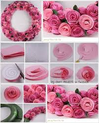 diy paper spiral rose and decoration paper flower wreaths