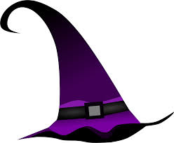 halloween hats clipart purple witch hat