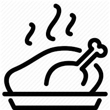 chicken oven roast thanksgiving turkey icon icon