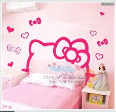 cartoon kitty cute bedroom bed head sticker children