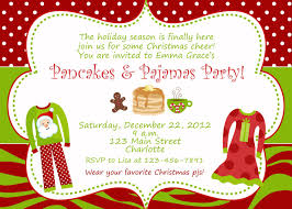 christmas pajama party invitations home party ideas