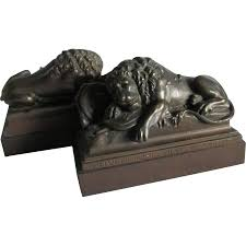 bookends lion antique lion of lucerne bookends swiss monument sold on