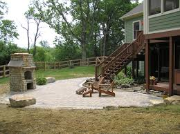 patio ideas with pavers decor marvelous landscaping design with amusing unilock fireplace