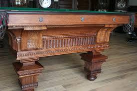 brunswick monarch pool table 1890 oak jewel marschak s antique brunswick billiard tables