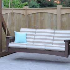 Porch Swing With Cushions Hershy Way Outdoor Furniture Holmescounty Oh