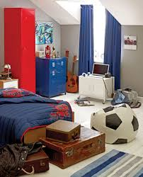 cute image of sport theme kid bedroom decoration using single agreeable image of red and blue sport theme kid bedroom decoration using large drapery twin blue archaic blue football