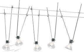 1744 wire rope 5 light kit five steel drop rod light fitting