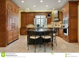 kitchen with center island stock image image 26083791