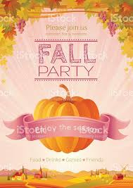 fall invitation design harvest festival poster thanksgiving
