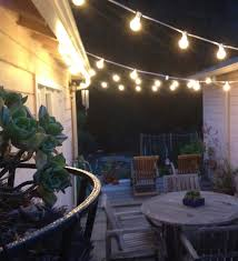 Hanging Patio Lights String Our Home Zig Zag Bulbs And Patios