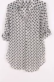 elephant blouse shirt elephant elephant blouse black and white chemise