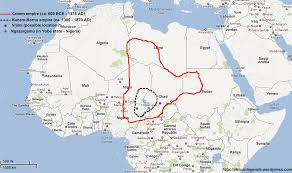 Map Of Mali Bornu Empire 1380 U20131893 The Continuation Of The Great Kanem