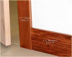 interior casing and baseboards