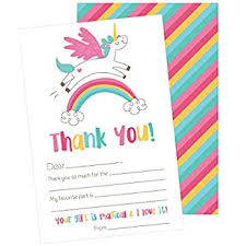 amazon com fill in the blank thank you cards kids birthday or