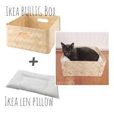 simple diy cat bed from ikea u2013 the moomincats u2014 cat design blog