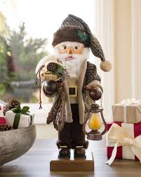 Nutcracker Christmas Decorations Australia by German Santa Nutcracker With Snow Shoes Balsam Hill