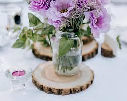 wood slices wedding centerpieces rustic by rusticwoodslices